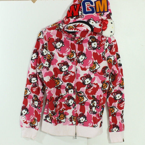 439116b2 Bape Jackets & Blazers - A Bathing Ape Bape Hello Kitty Collab Hoodie Baby